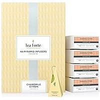 Tea Forte Camomila Limón infusión Bio Event Box, 48 pirámides de Tea Forté