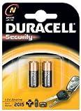 Duracell Lot de 2 piles pour horloge et alarme LR01, MN9100, N, E90, 4001, KN, KN-2, AM5, 810, 910A
