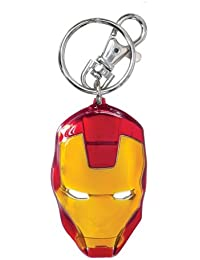 Marvel Men's Iron Man Classic Face Color Pewter Keyring