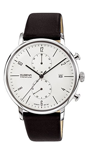 Dugena Dugena Premium Quartz Watch For Men With Leather Strap, Black