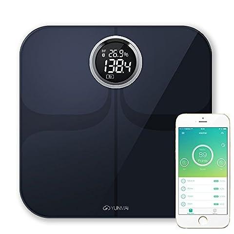 Yunmai Smart Impédancemètre Bluetooth sans fil de salle de bain Poids balance numérique BMI iOS et Android