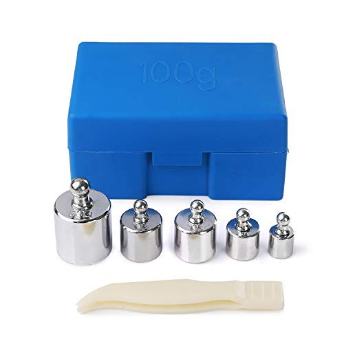 Hongyantech 6 Stück 100 Gramm Kalibriergewicht Kalibrierung Grammwaage Gewicht Set für Digitalwaage Waage