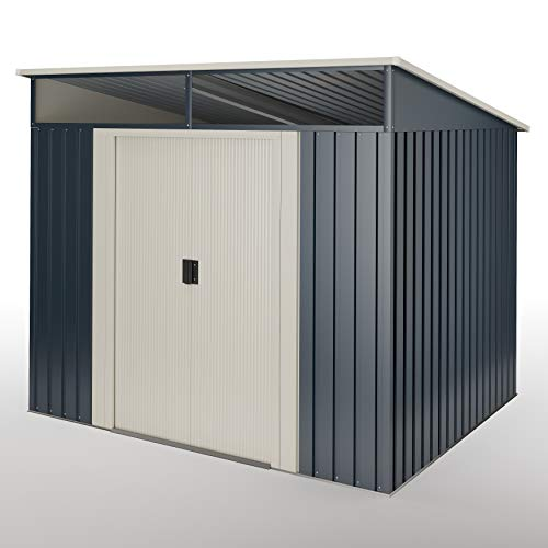 Wasabi Stark- Caseta metálica Gris Antracita 4,6 m2 Garantía 10años