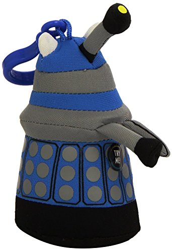 Doctor Who 4-inch Mini Talking Blue Dalek Plush Clip-On with Sound
