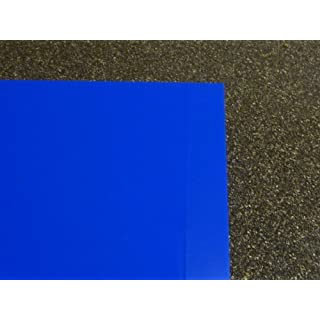 blue Acrylic XT Perspex sheet, 500 x 500 x 3 mm Plate cut
