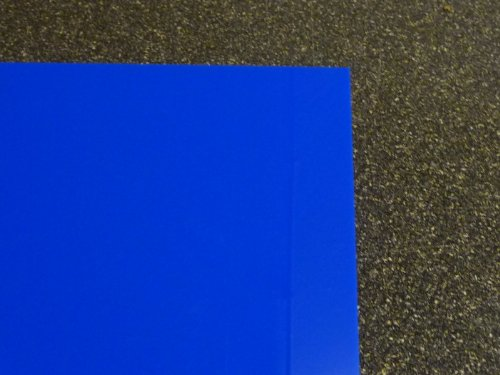 Plexiglas GS, 500 x 500 x 3 mm, blau getönt