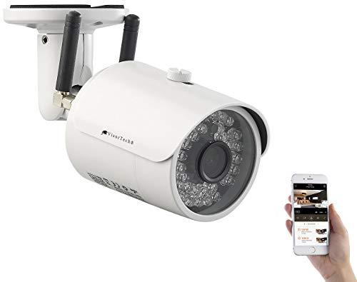 VisorTech Kamera SIM Karte: Outdoor-IP-HD-Überwachungskamera mit GSM, 3G, WLAN & Nachtsicht, IP65 (Überwachungskamera SIM)