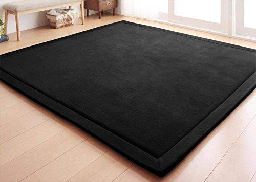 DHG Mats-Coral Fleece-Decke/Teppich für Wohnzimmer, Tee Tisch und Sofa/Gepolsterte Bett Matte/Europeantyle Minimalistischen Teppiche,B,130X190Cm (51X75Inch) (Coral Tisch)