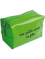 """Pochette Trousse maquillage en vinyle """"mes petits secrets de fille"""""""