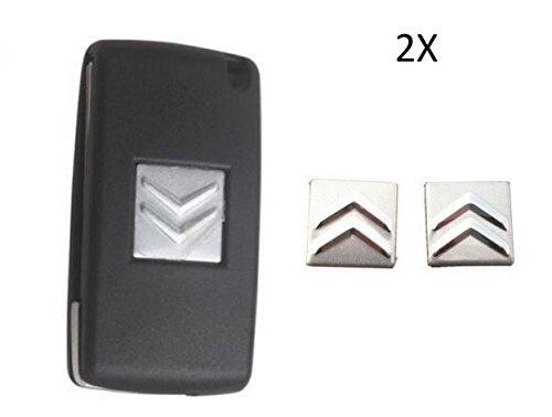 tecnostorer-2x-adesivo-ricambio-citroen-c3-c4-ds3-alluminio-chiavi-telecomando-guscio