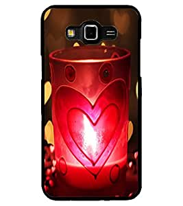 ColourCraft Love Candle Design Back Case Cover for SAMSUNG GALAXY GRAND MAX G720