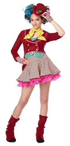Mad As a Hatter Tween Costume, X-Large by California Costumes (Alice Tween Kostüm)