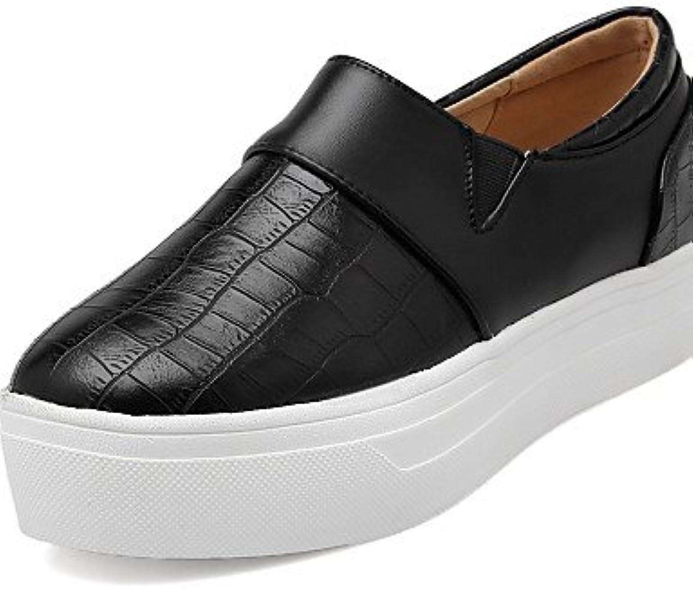 njx/Hug Damen Schuhe Gummi Plattform Schuhe Loafer Outdoor/Casual Schwarz/Weiß