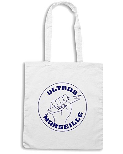 T-Shirtshock - Borsa Shopping TUM0084 ultras marsiglia Bianco
