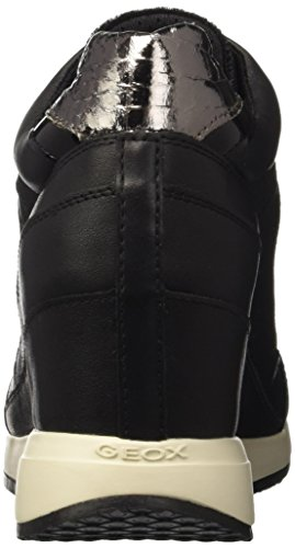 Geox Damen D Nydame A High-Top Schwarz (Blackc9997)
