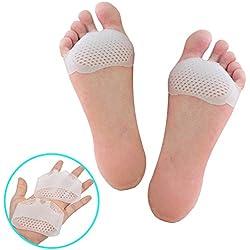 Coussin Gel Pied, Coussinets Plantaires, Metatarse Coussinets pour Protections du Pied Anti Douleur - 1 Paires