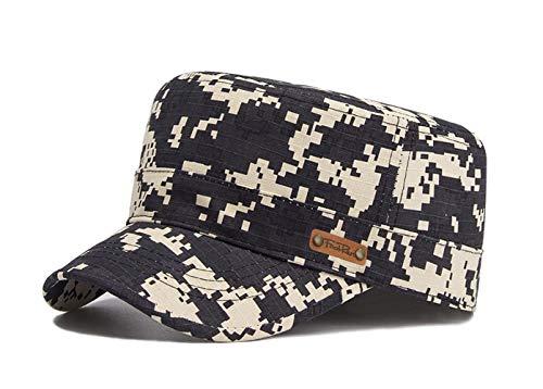 Unisex Military Style Cap Army Kappe Camouflage Baseball Cap Wandern Mütze (Schwarz-2)