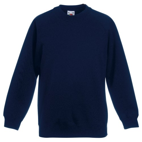Fruit Of The Loom - Felpa Maniche Raglan - Bambino (9-11 anni) (Blu scuro)
