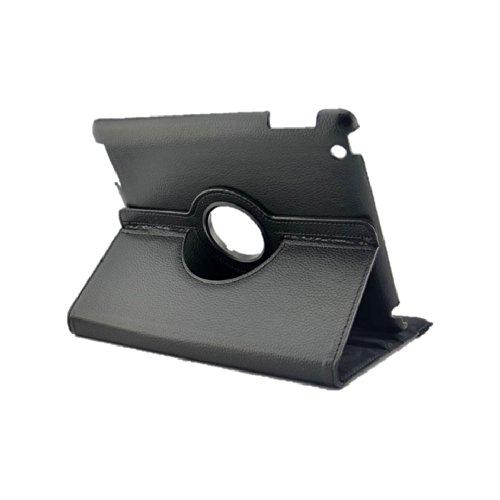 Schutzhülle aus Kunstleder für iPad 2 / 3 / 4, iPad Air, iPad Mini, iPad Mini 2, um 360 Grad drehbar, inklusive Displayschutzfolie und Eingabestift schwarz schwarz iPad Air