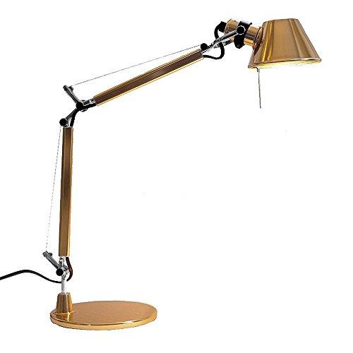Artemide Tolomeo Micro Lampada da Tavolo, E14, 46 watts, Gold