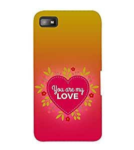 Print Masti Designer Back Case Cover for BlackBerry Z10 (Heart Feelings Hand My Girl Boy )