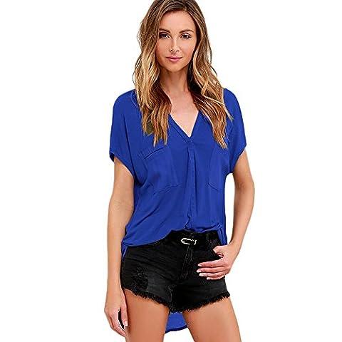 MEINICE - T-Shirt - Femme - bleu - XL