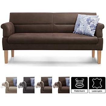 CAVADORE 2-Sitzer Sofa Malm mit Federkern für Küche