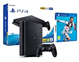 PS4 Slim 500 GB schwarz Playstation 4 Konsole + FIFA 19
