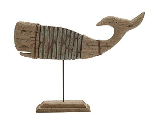 deco-79-38766-polystone-legno-metallo-whale-supporto