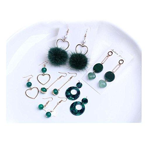 Boucle d'oreille Accessoires Kit DIY Boucles d'oreilles à la main Clip Clip matériel (Green Series)
