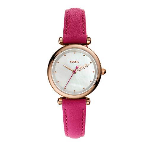 Fossil Carlie Mini Analog White Dial Women's Watch-ES4827