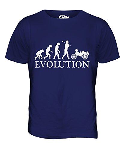 CandyMix Liegerad Evolution Des Menschen Herren T Shirt Navy Blau