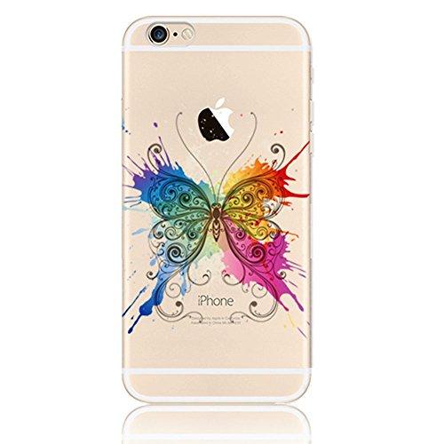 iPhone 6 6s Hülle, Vandot TPU Silikon Dünnen Zurück Schutzhülle [Rutschfest Kratzfest] Case Cover Soft Durchsichtig Painted Pattern 3D Landschaft Muster Klar Schale Handyhülle Tasche - Bunte Heissluft Style 27