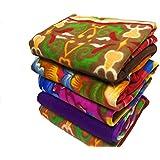 Shivaan Home Furnishing Multipurpose Polar Fleece Single Printed Bed Fleece Blanket (Set of 4)-Assorted Multicolor(Light Weight)