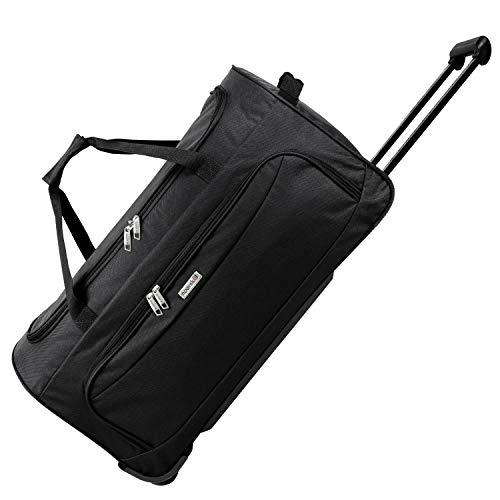 noorsk Geräumige Reisetasche Sporttasche XL - Schwarz (Rädern Auf Tasche Kleine)