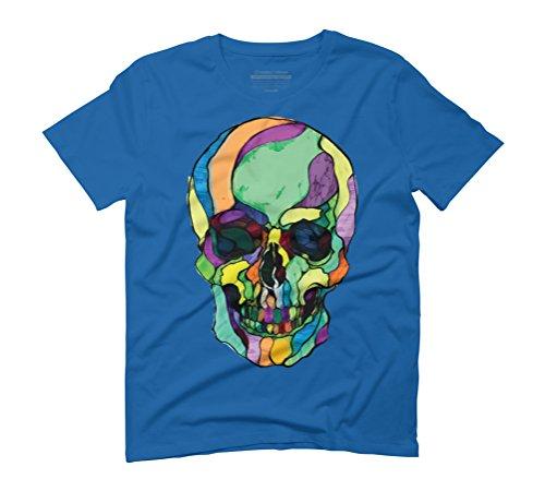 Calavera Men's Graphic T-Shirt - Design By Humans Royal Blue