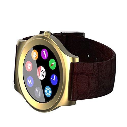 Tsing Montre-bracelet Bluetooth neecoo V3 LCD Smartwatch Montre Intelligente Heart Rate Monitor Podomètre Contrôle Musique Jouer Changeable UI Montre-bracelet Tactile pour Téléphones Android et IOS iPhone Bluetooth 4.0 au-dessus (Brun)