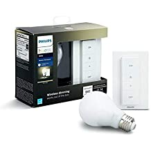 Philips Hue White - Bombilla LED Individual + Interruptor Inalámbrico, 9.5 W, E27, Iluminación conectada, Luz Blanca Cálida Regulable, Compatible con Amazon Alexa, Apple Homekit y Google Assistant