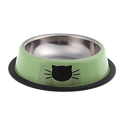 Voguecase Hundenapf Edelstahl Wasser - Futternapf mit Feste Gummikanten, für Kleine Haustiere, Hund / Katze und Andere (Grün)