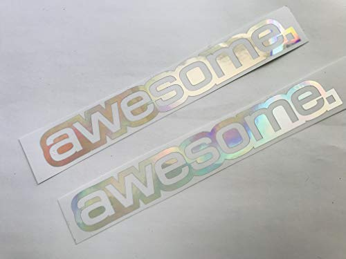 Set Awesome Farbwechsel Hologram Flip Flop Oilslick Shocker Autoaufkleber Tuning Sticker Decal Dapper Turbo ()