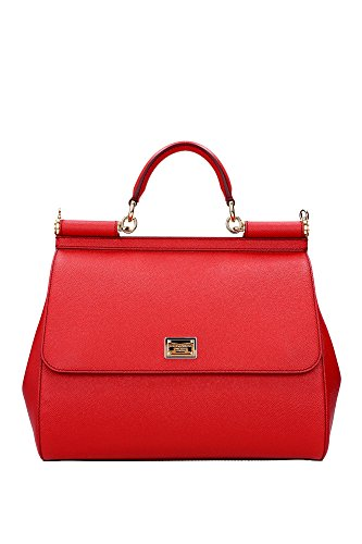 Hand-Bags-DolceGabbana-Women-Leather-Red-and-Gold-BB6015A100180303-Red-14x27x32-cm