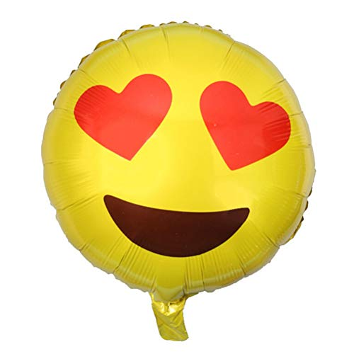 pc Emoji Balloon 18 Inch Foil Bubble Balloons Home Cartoon Yellow Smile Faces Party Decoration - Off Helium Mailer A Supergirl Cushion Party Unicorn Shipping Poo Cupcak ()