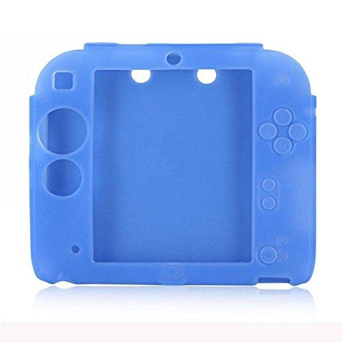 2Packungen Multicolor Weich Silikon Schutzhülle für Nintendo 2DS Schutz Guard Soft Gummi-Haut, Schutzhülle für 2DS Spiel Konsole Gepunktet Blue + Red
