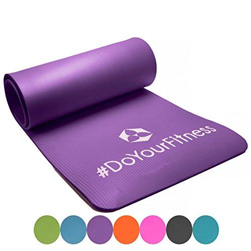 #Portable Fitnessmatte »Sharma« / dick und weich, ideal für Pilates, Gymnastik und Yoga, Maße: 183 x 61 x 0,8cm, ultra-violett#