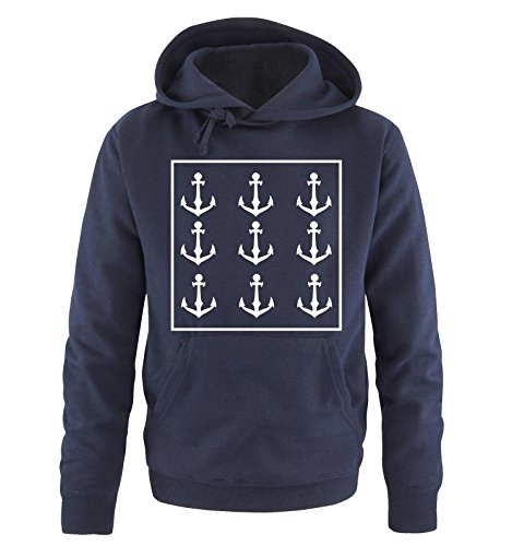 Comedy Shirts -  Felpa con cappuccio  - Maniche lunghe  - Uomo Navy / White