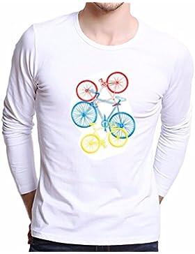 Camiseta de hombre,SHOBDW Hombres más tamaño impresión camisetas camisa de manga larga blusa de la camiseta