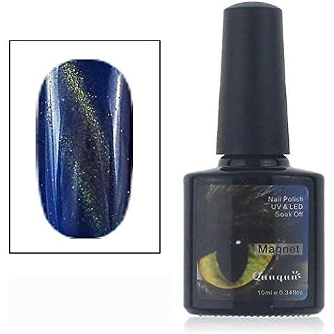 Tongshi 12 Color UV Cola Esmalte de Uñas Manicura LED Gatos Color de Ojos Color Oscuro