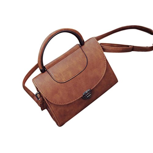Fashion Bag Candy Messenger Bags Female Handbag Shoulder Bag Flap Women Bag by Kangrunmy Marrone