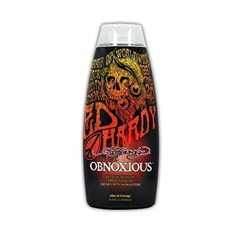 Ed Hardy Obnoxious Indoor Tanning Lotion Accelerator Bronzer Dark Tan Bed Tanner 10 fl (300ml) by Ed Hardy [Beauty] by Ed Hardy