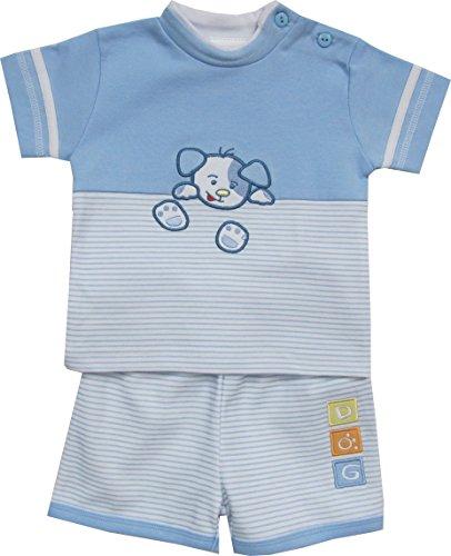 Schnizler - Hündchen mit T-Shirt und Shorts - Set De Vêtements Garçon, Bleu (original 900), 56 Schnizler